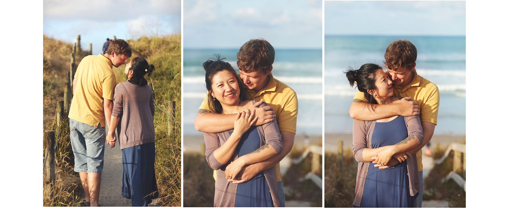 couple portrait at Papamoa Beach by Susanna Lin Photography
